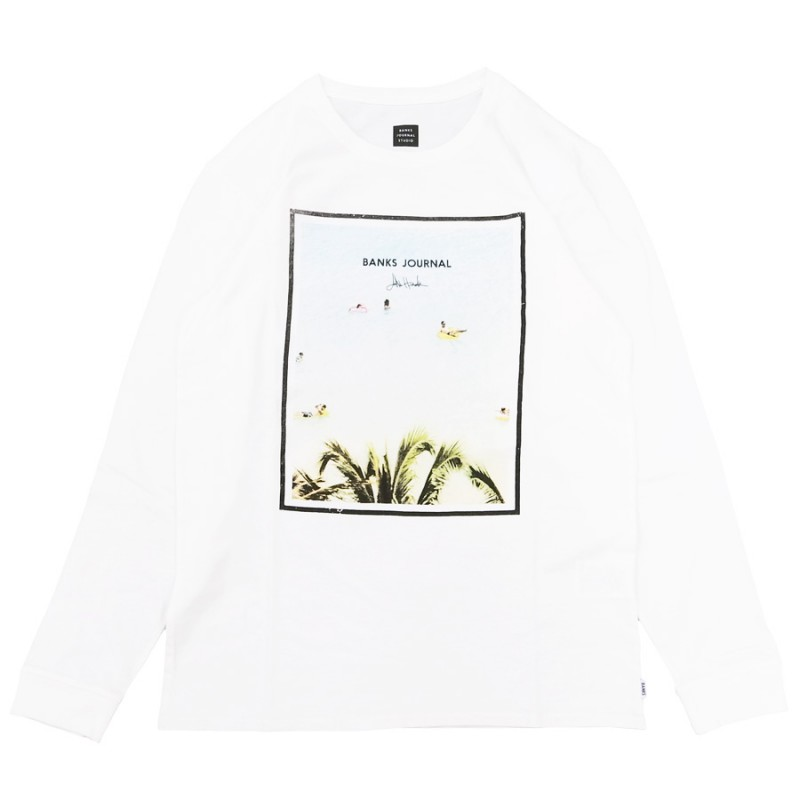 BANKS バンクス JOHN HOOK LOUNGING L/S TEE